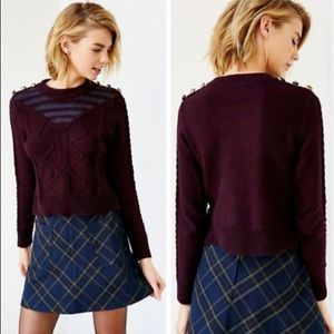 ALICE / URBAN OUTFITTERS / MAROON KNIT SWEATER